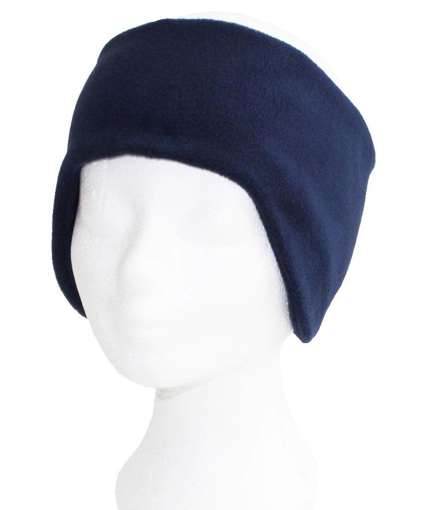 Haarband Fleece breed  Navy Blauw