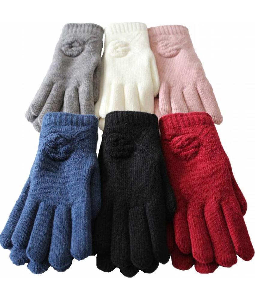 Handschoenen Dames met Bloem