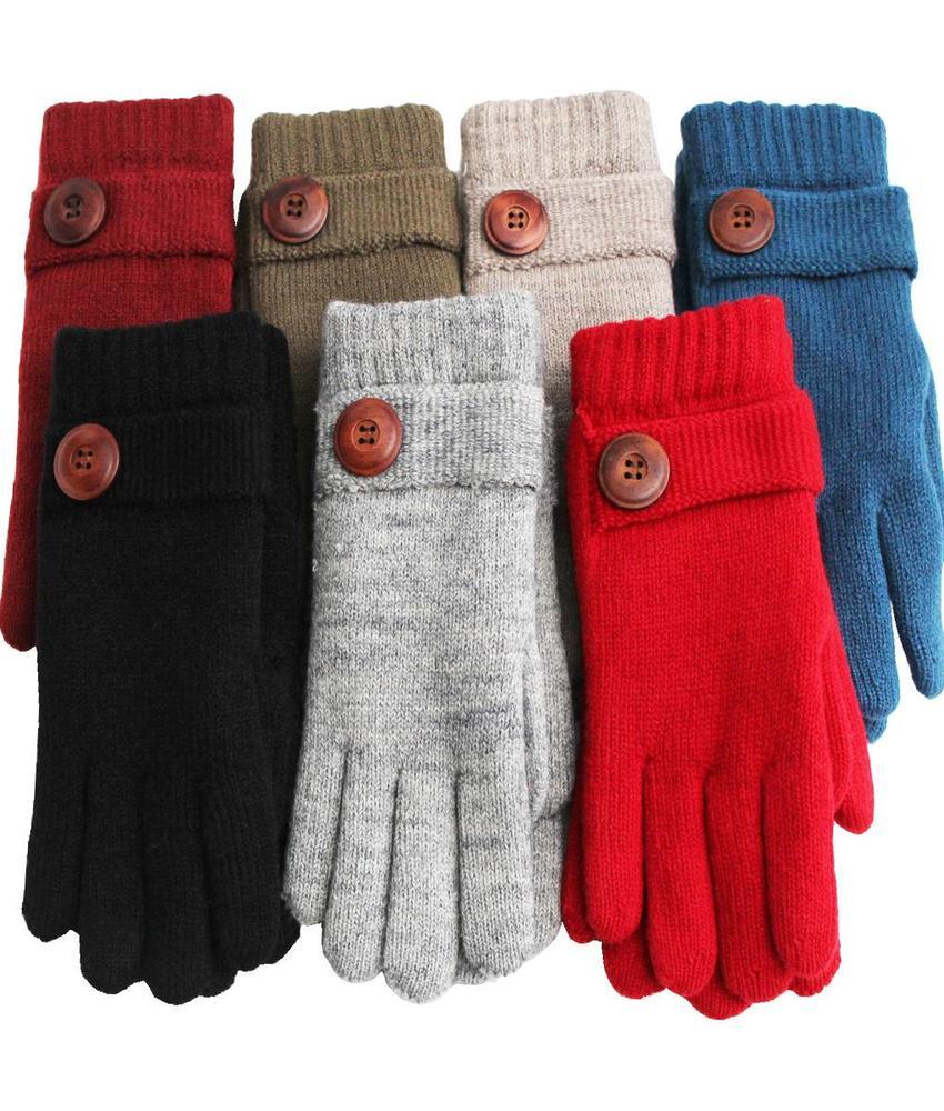 Handschoenen Dames met Knoop