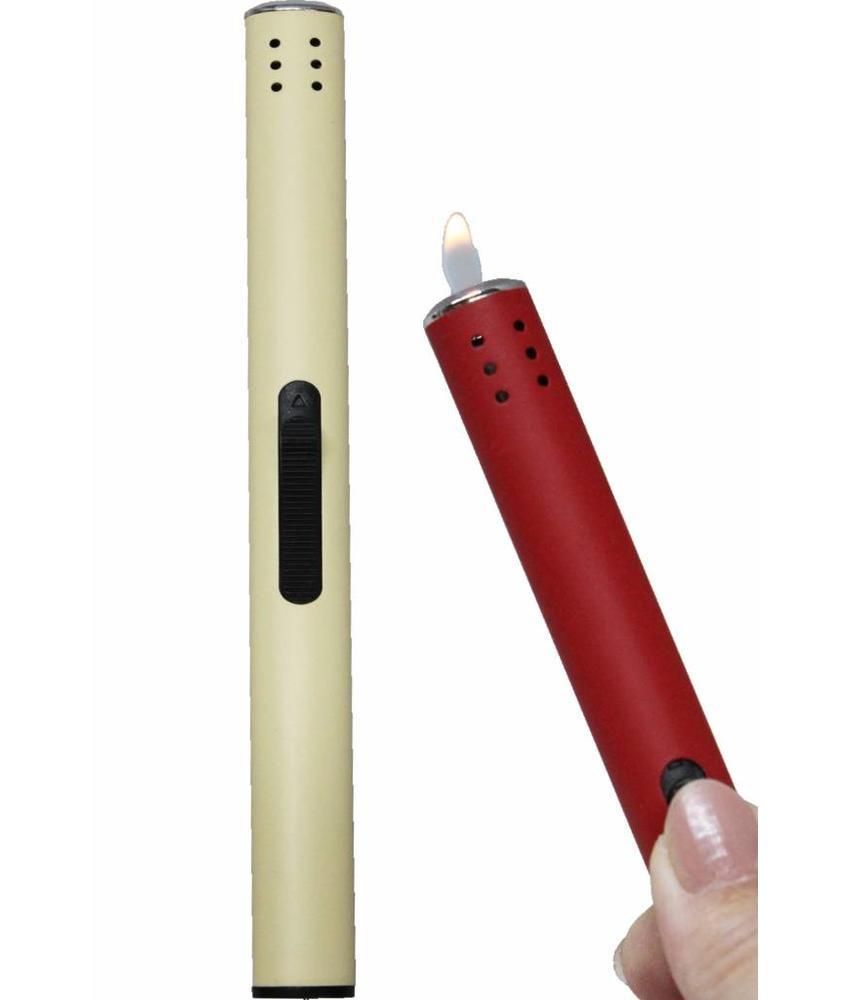 Gasaansteker rond lang   18 cm.