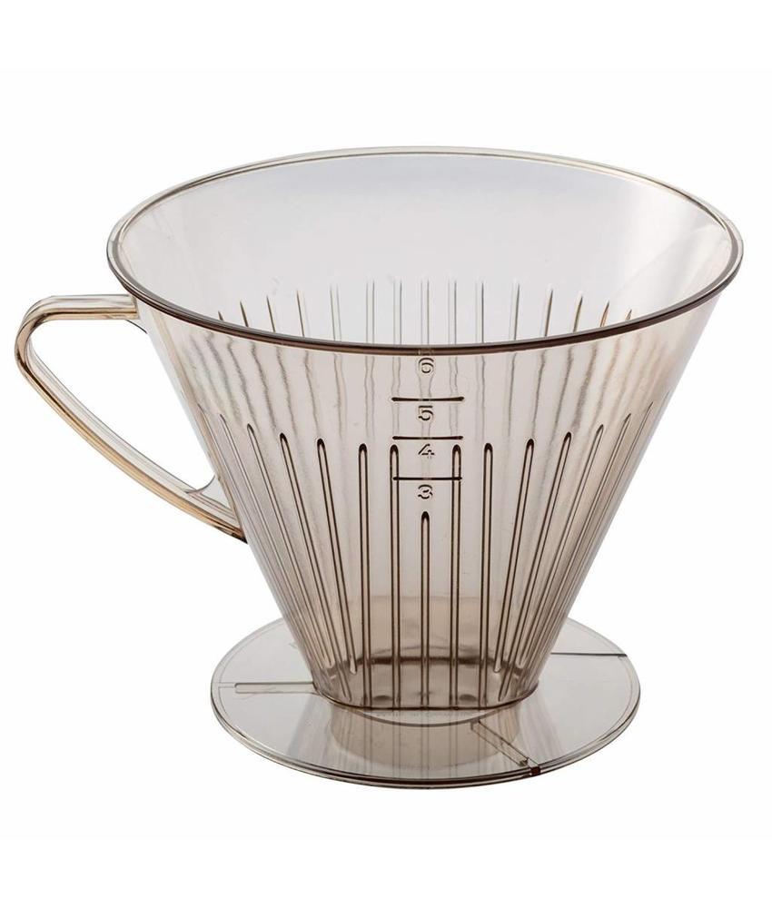 Koffiefilter houder Bruin 1 x 6