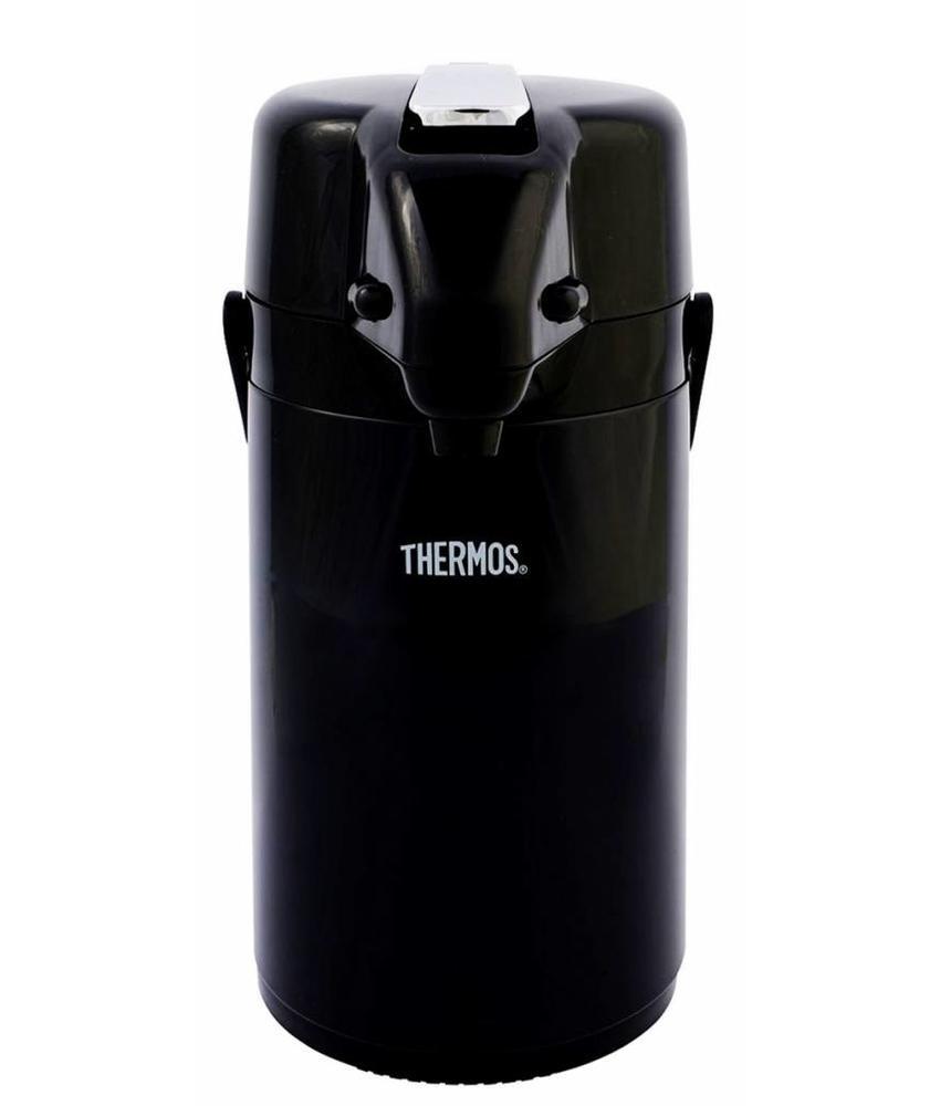 Thermos Pompthermos 1,3 L.  Zwart met Hendel