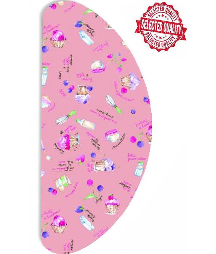 Strijkplankovertrek Banaan -  Roze cupcakes