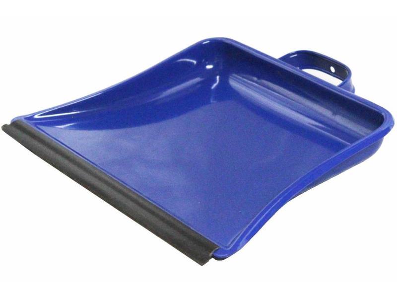 Vuilblik metaal  Blauw 30 cm.   met Beugelgreep