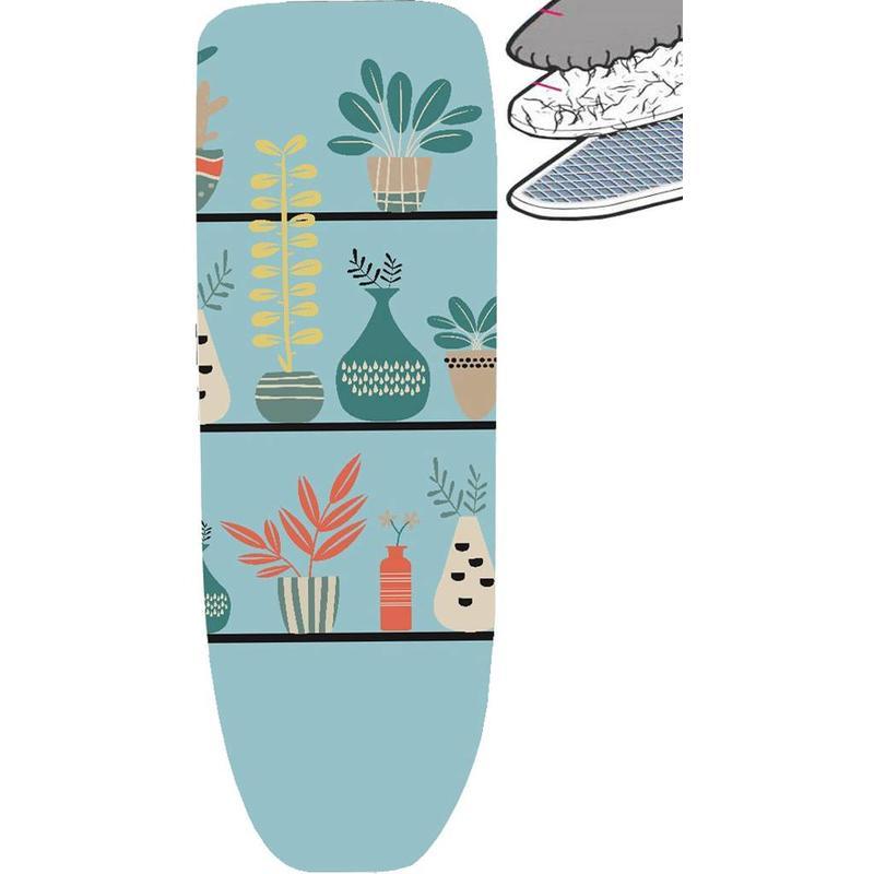 Strijkplankhoes 2 laags met elastiek C - Turquoise decoratie