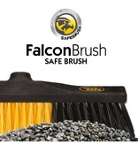 Safe Brush Zaalveger / Werkplaatsbezem industrie - 60 cm - Zwart/Geel