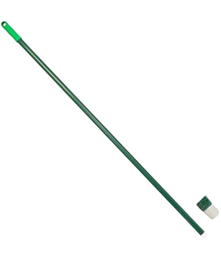 Glasfiber steel met schroefdraad - 140 cm - Groen