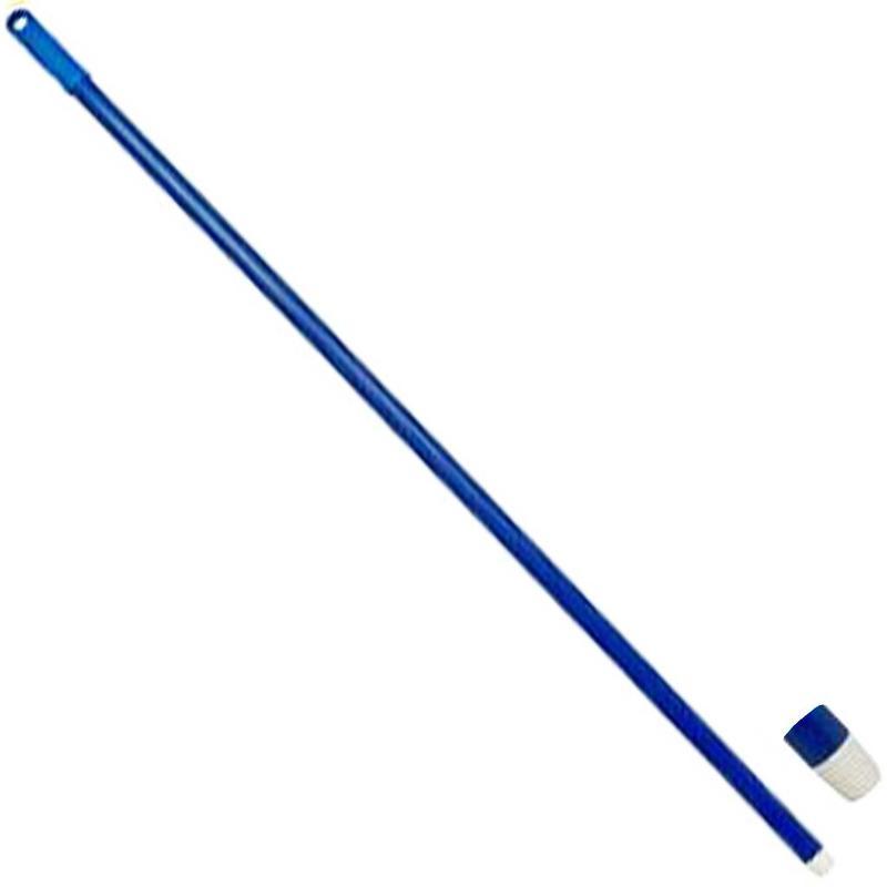 Glasfiber steel met schroefdraad - 140 cm - Blauw