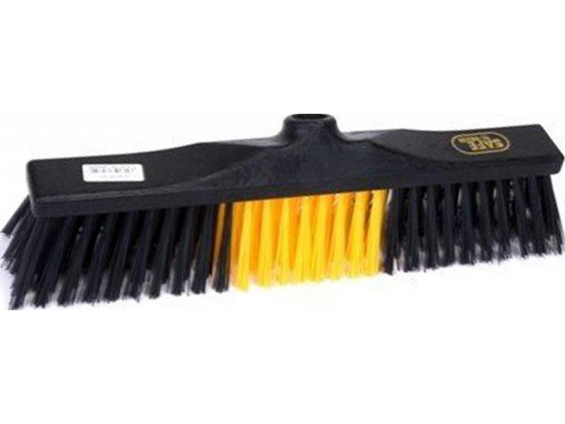 Safe Brush Straatbezem industrie - 40 cm - Zwart/Geel