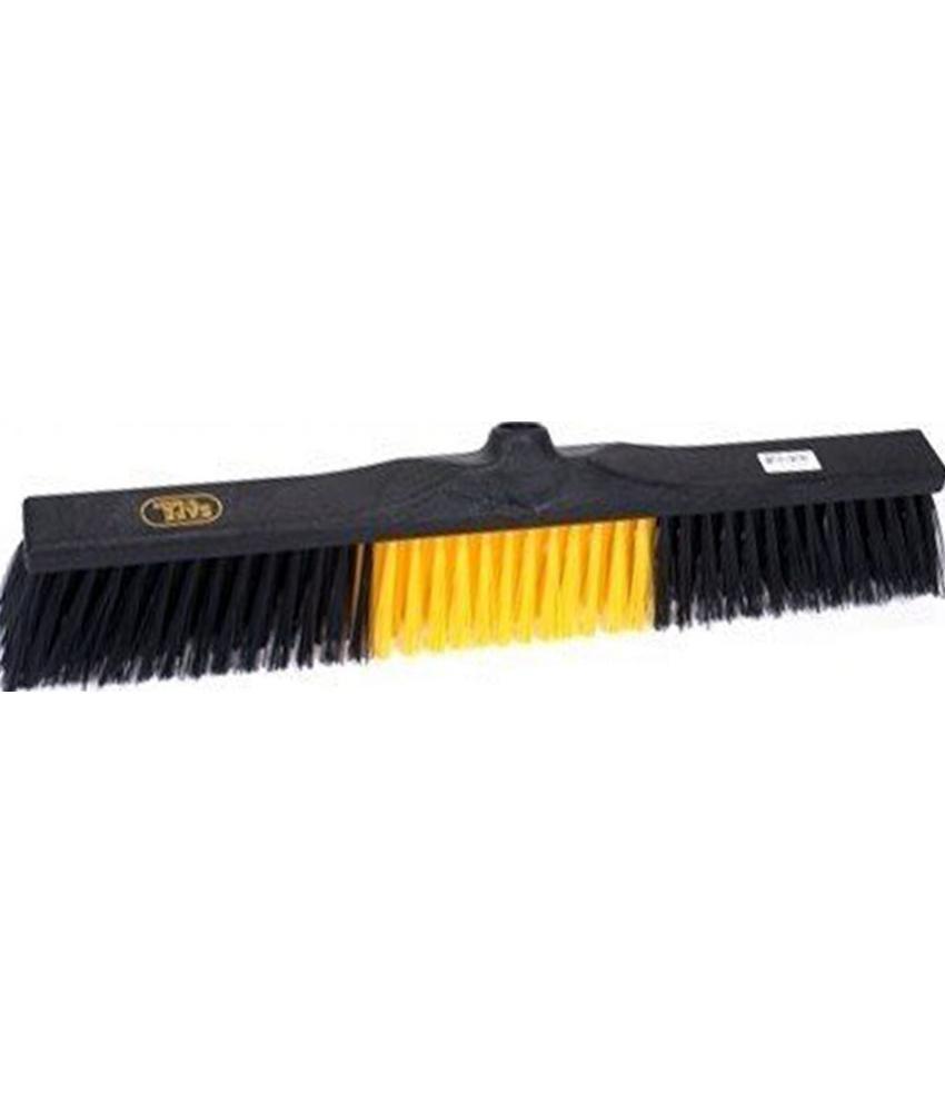 Safe Brush Straatbezem industrie - 60 cm - Zwart/Geel