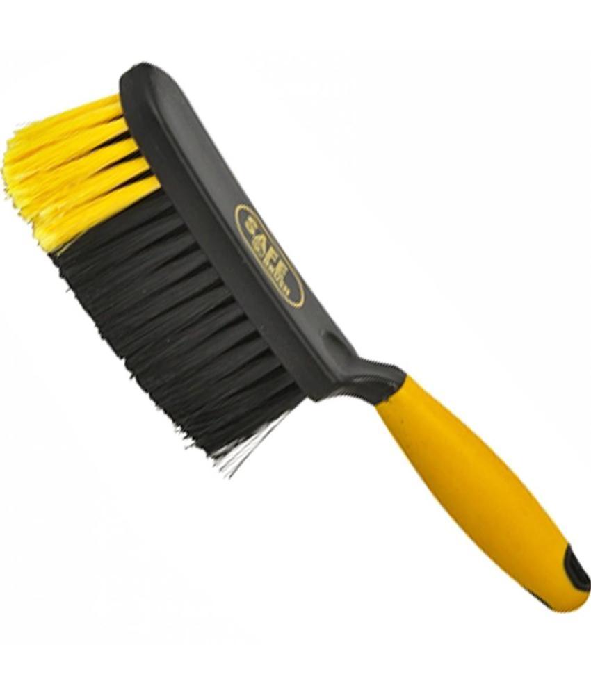 Safe Brush Handveger industrie zacht - 28 cm - Zwart/Geel