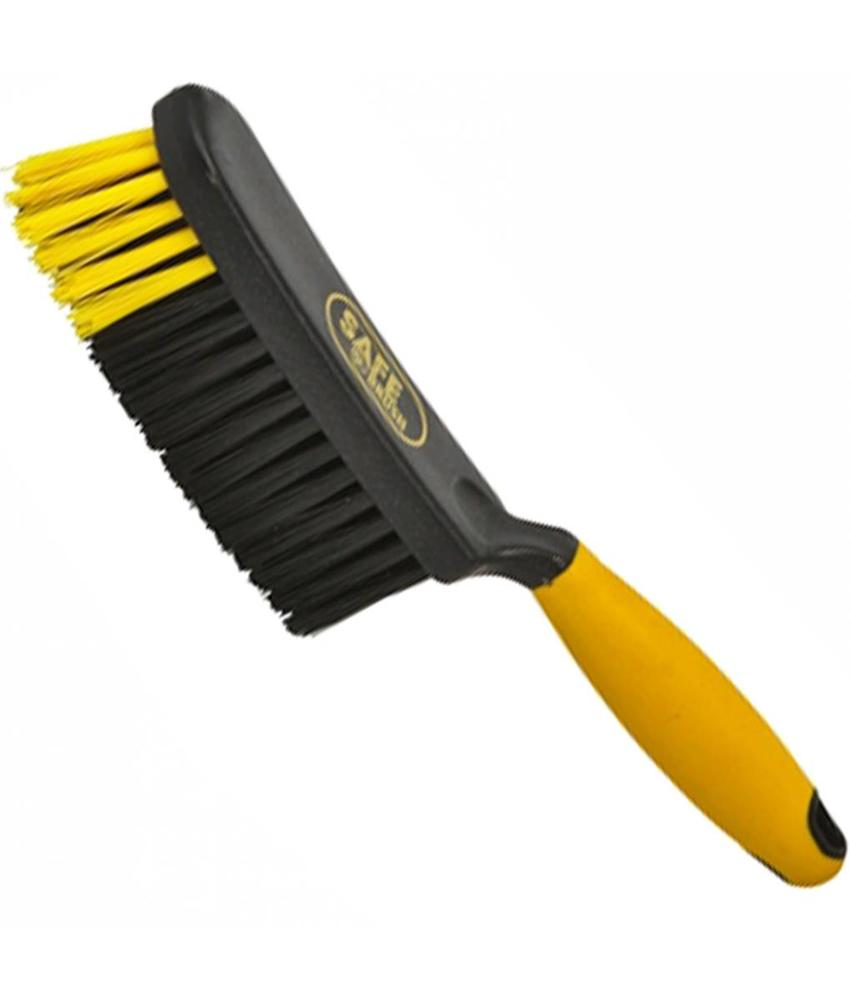 Safe Brush Handveger industrie hard - 28 cm - Zwart/Geel
