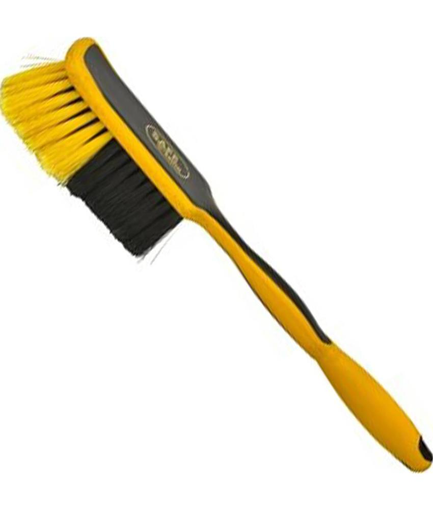 Safe Brush Handborstel industrie  lang handvat zacht  -  26 cm - Zwart/Geel