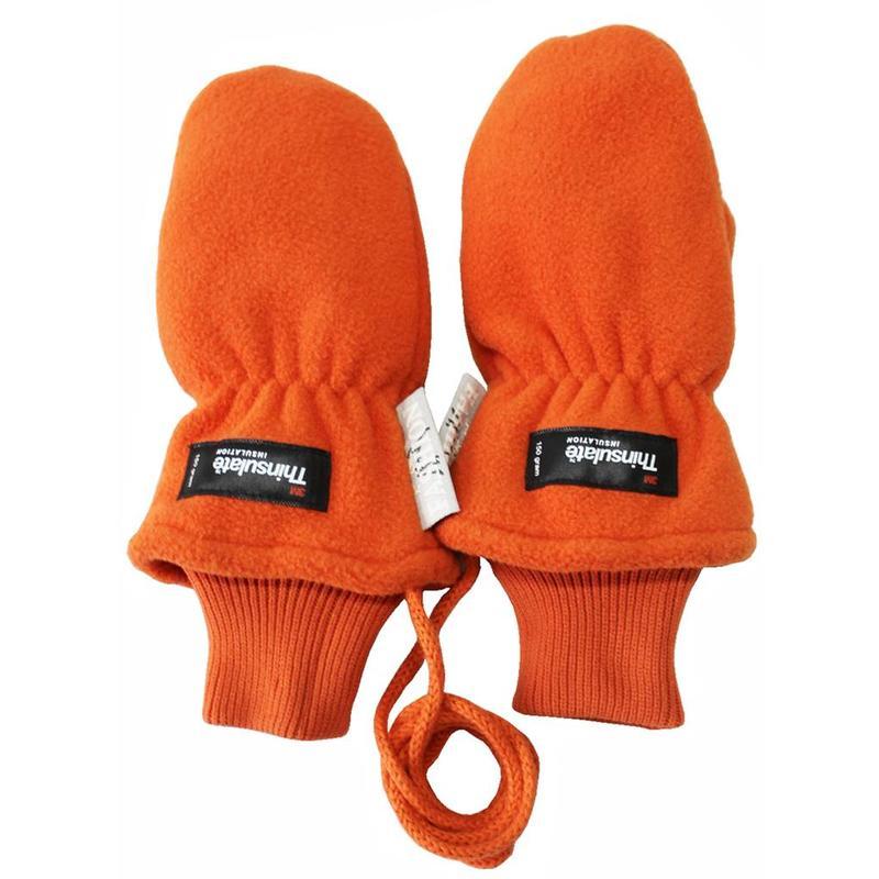 Fleece wanten kinderen  Oranje