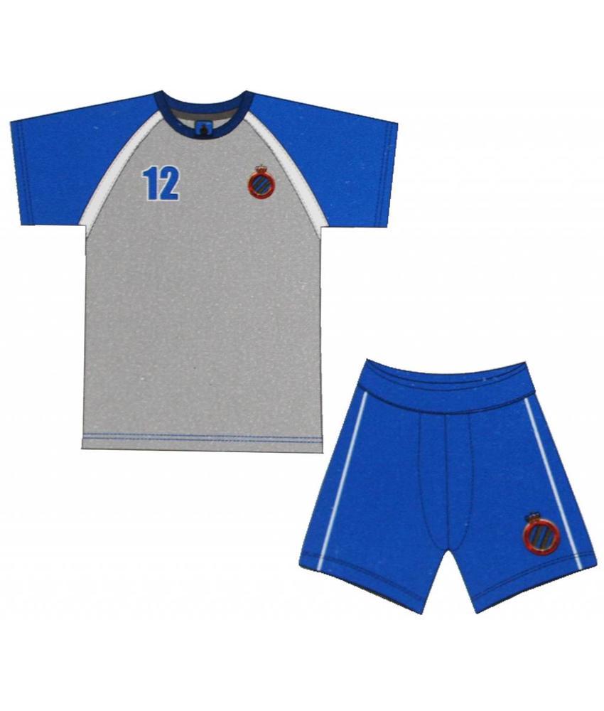 Pyjama Club Brugge Kids - l. grijs -  korte broek