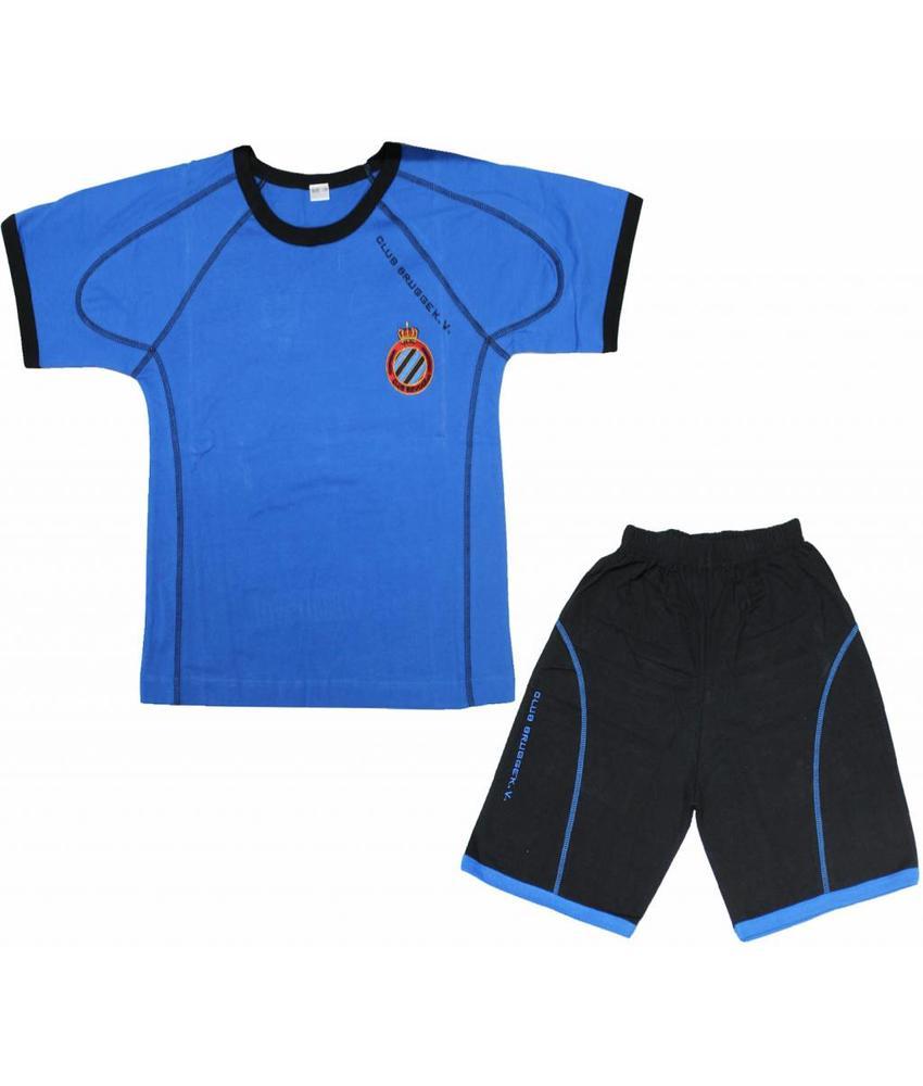Pyjama Club Brugge Kids - Blauw/Zwart  - korte broek