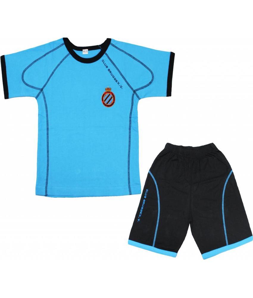 Pyjama Club Brugge Kids - licht Blauw  - korte broek