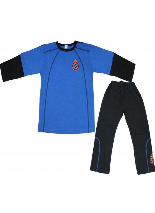 Pyjama Club Brugge Kids - Blauw/Zwart -  lange broek