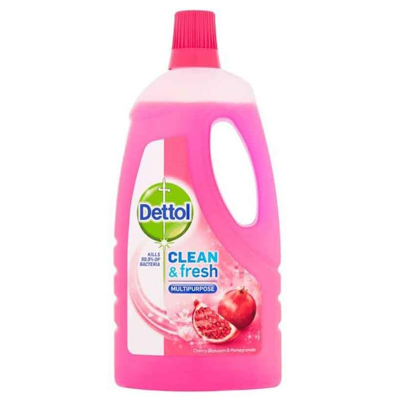 Dettol  Allesreiniger -  Clean & Fresh   -  Cherry & Pomegranate 1 liter