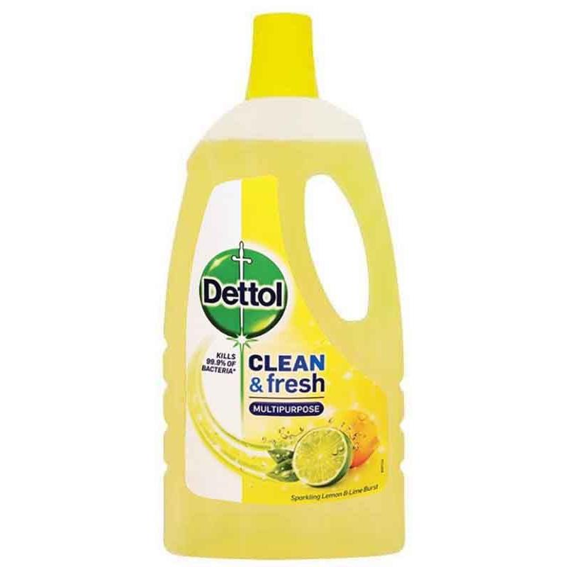 Dettol  Allesreiniger -  Clean & Fresh -  Lemon &  Lime  1 liter