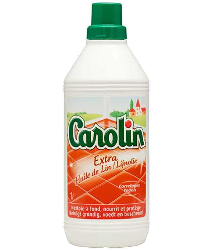 """Carolin Vloer- en Tegelreiniger   """"Extra lijnolie""""  1 L."""
