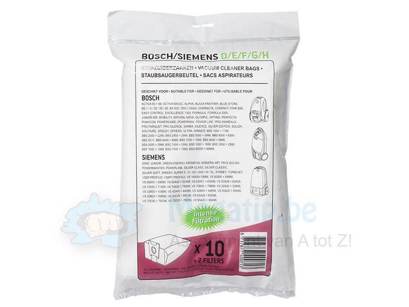 BOSCH / SIEMENS type D / E / F / G / H, Stofzuigerzakken