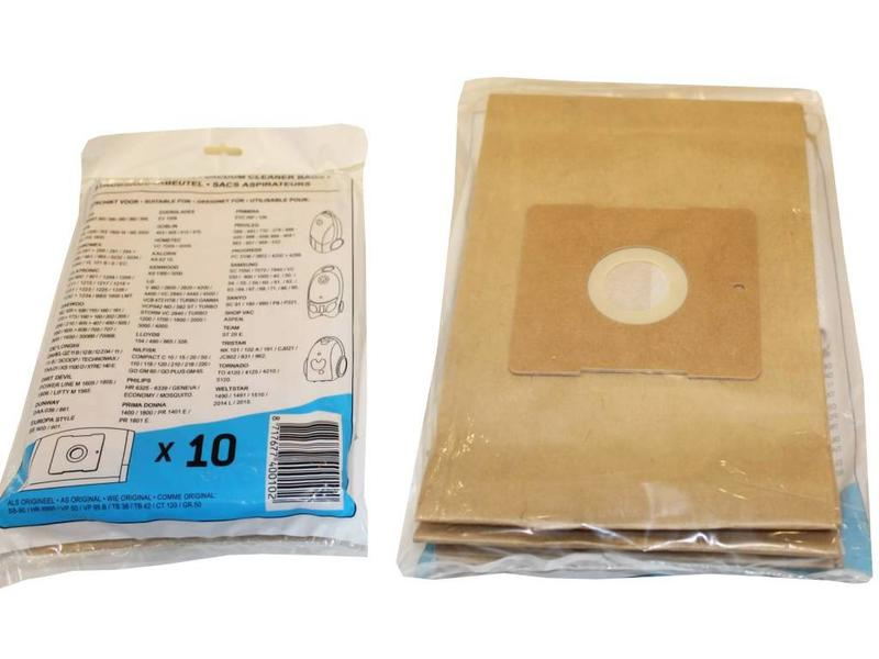 UNI-BAG: Philips / A E G / DAEWOO / SAMSUNG / Nilfisk / Tristar / Primera / Kalorik Papieren Stofzuigerzakken