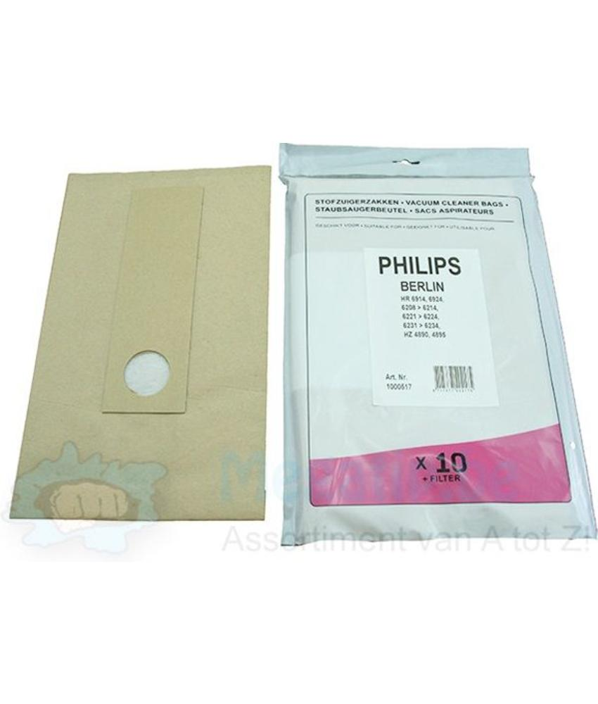 Philips Berlin HR 6208 - HR 6224 Stofzuigerzakken