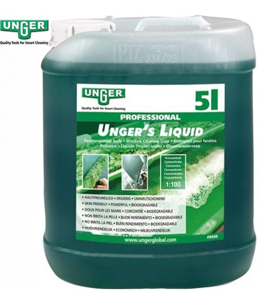 Unger Glazenwassers zeep Liquid 5 liter