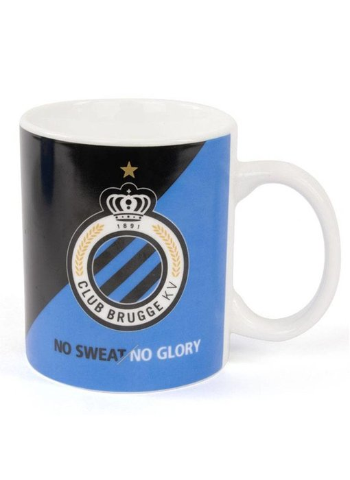 "Mok / Drinktas Logo Club Brugge ""No Sweat/No Glory"""