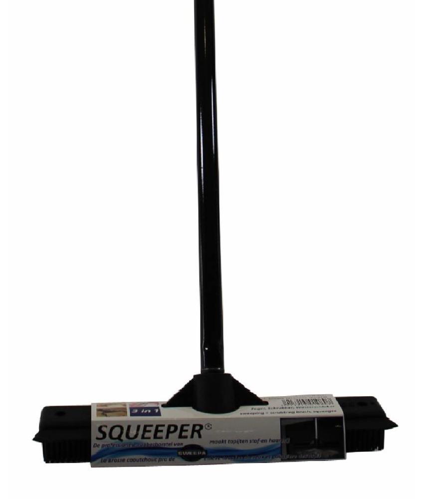 Squeeper rubber borstel