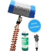 Telescoopsteel tot 8 meter met Spiraal en zachte Wasborstel  + gratis cleaning soap