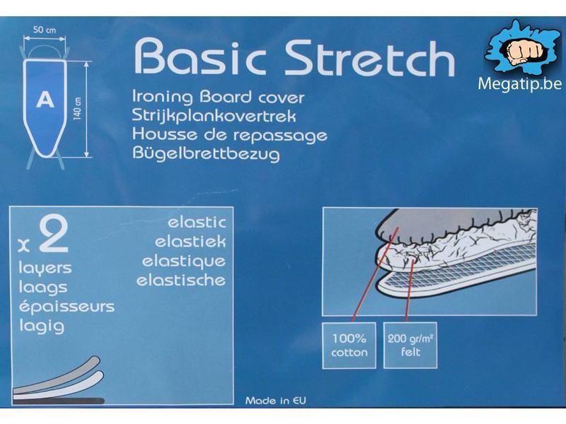 Strijkplankhoes 2 laags met elastiek A -  Bloemen