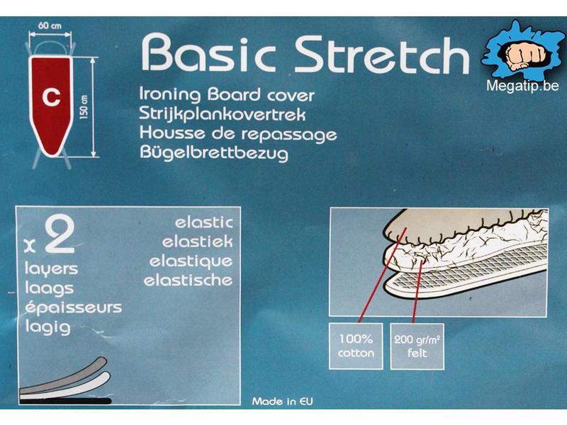Strijkplankhoes 2 laags met elastiek C -  Kersen
