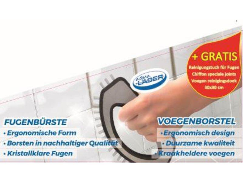 Aqua Laser Voegenborstel RVS  met  Microvezeldoek