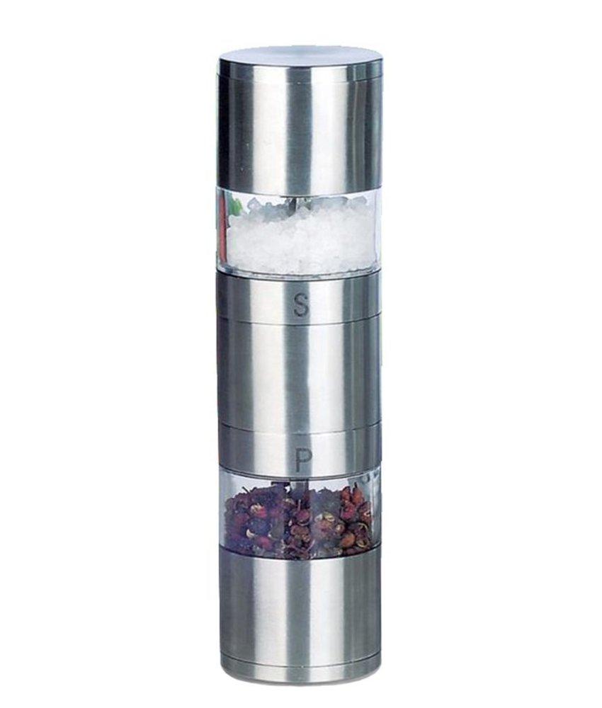 Enrico 2-in-1 Peper- en zoutmolen RVS - 18,5 cm