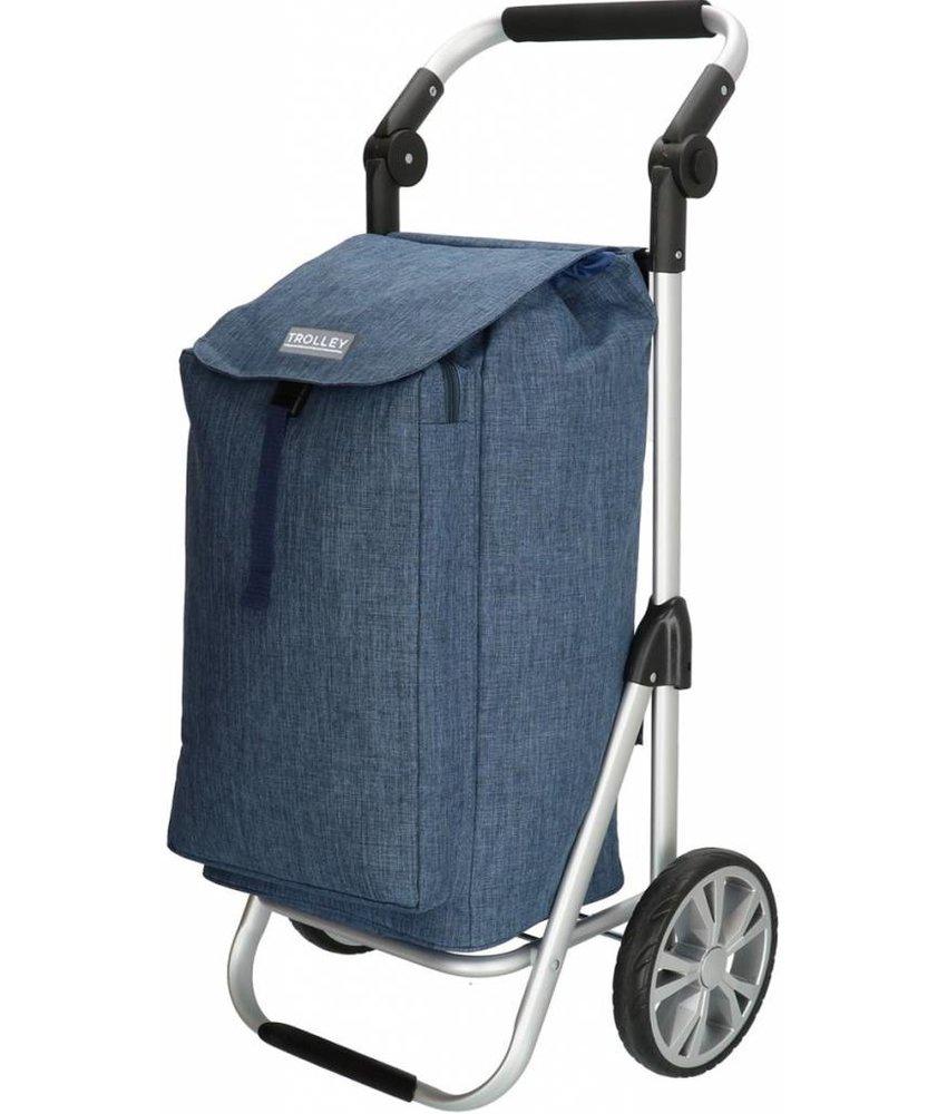 Boodschappentrolley met Verstelbaar handvat en koelvak  -  Jeans