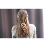 African Butterfly Hair Clips   -  Beige  design