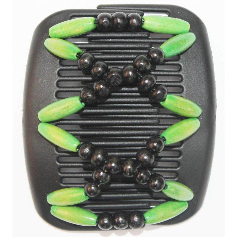 African Butterfly Hair Clips   -  Zwart/Groen