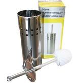 Toilet borstel met houder  RVS  -  WC borstel