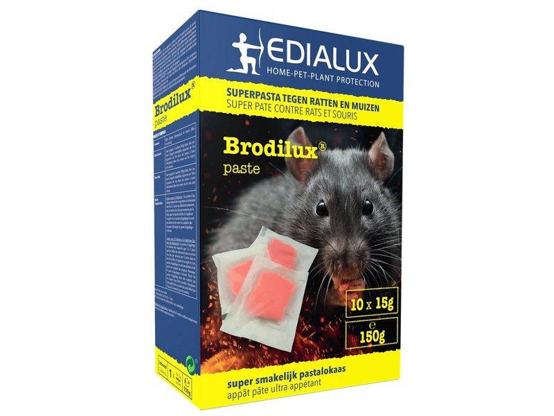 Muizen- en Rattengif  Brodilux Pasta  150gr (10 x 15gr)