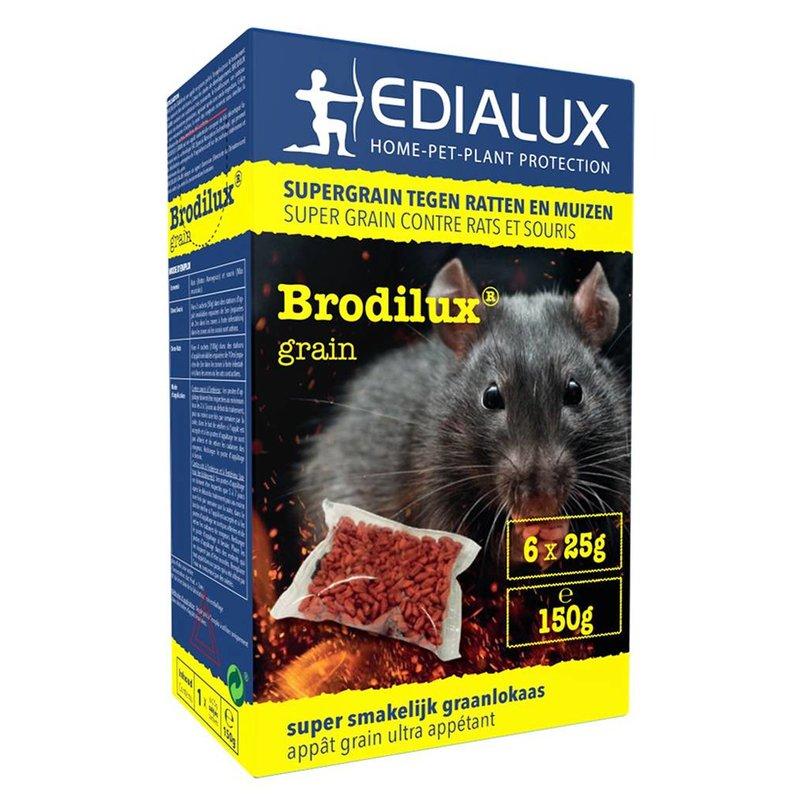 Muizen- en Rattengif  Brodilux Grain   150gr (6 x 25gr)