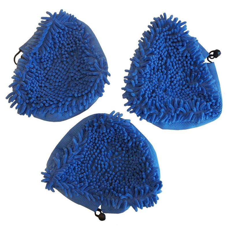 Aqua Laser Koraal doeken Blauw  3 stuks