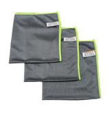 Microvezeldoeken carbon fiber Grijs/Groen - 3  stuks