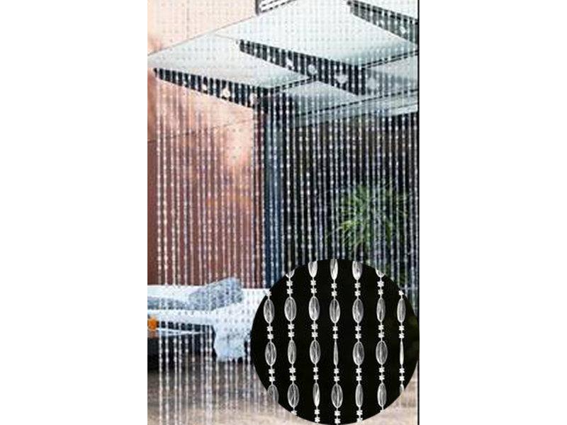 Vliegengordijn Parels Riviera Transparant  90 x 200 cm