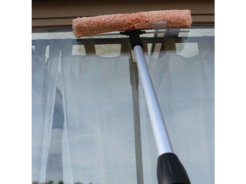 Waterdoorlatende Telescoopsteel  met Combi Raamwasser 40 cm.  + Extra gratis borstel