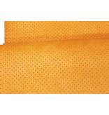 Synthetisch Zeem  Perfo oranje 1 meter