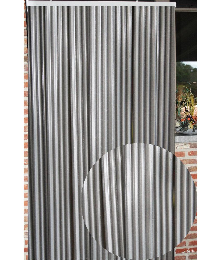 """Vliegengordijn PVC """"Lux Band"""" Grijs 100 x 220 cm"""