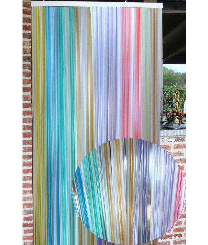 """Vliegengordijn PVC """"Lux Band"""" Regenboog 100 x 220 cm"""
