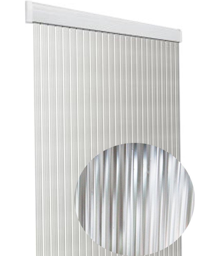 """Vliegengordijn PVC """"Lux Band"""" Transparant 100 x 220 cm"""